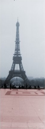 A picture of the Eiffel Tower as a symbol of internationalism